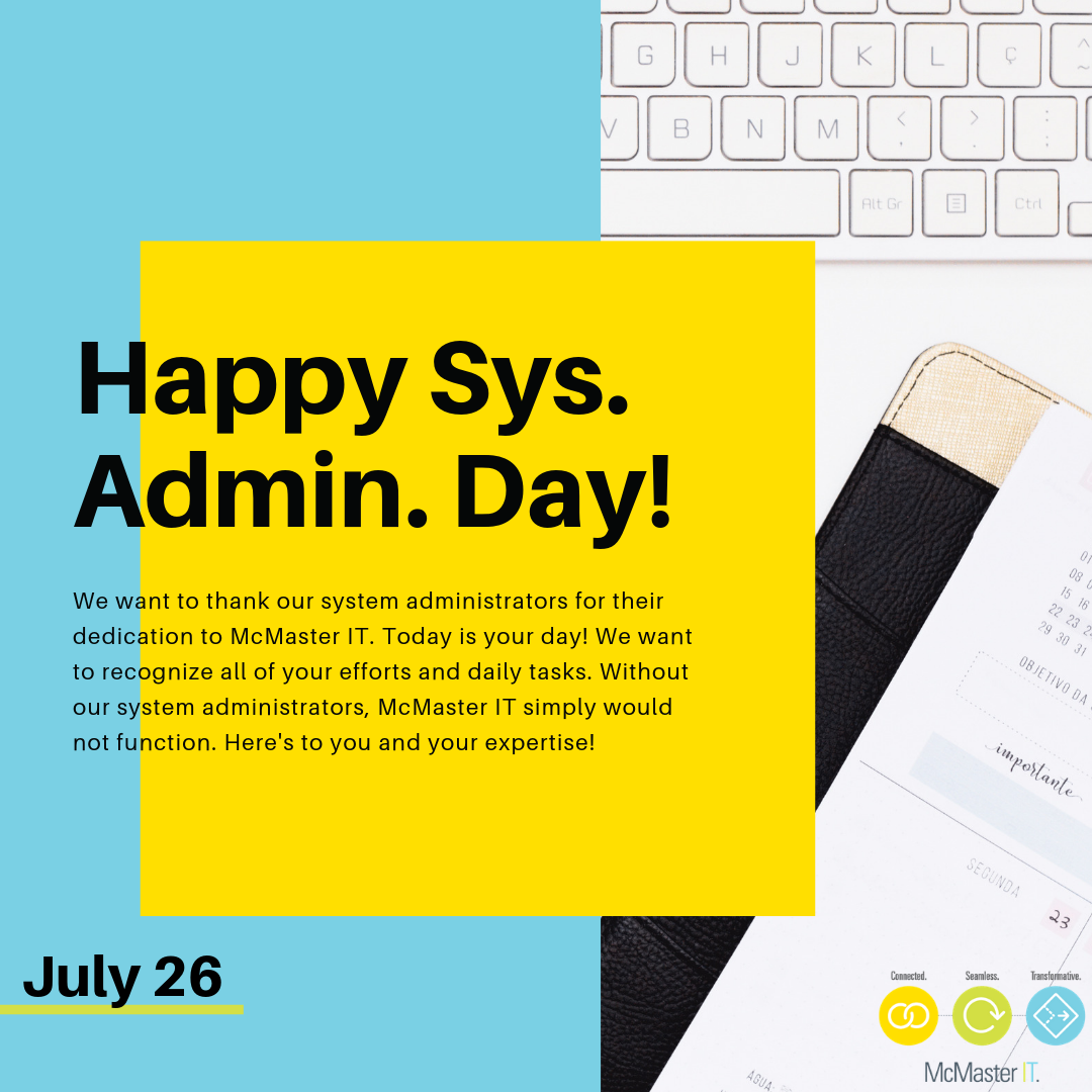 Happy sys admin day